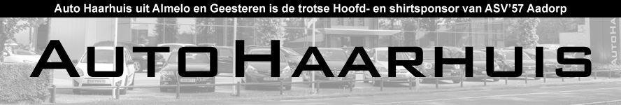 Auto Haarhuis Hoofd- en shirtsponsor ASV'57