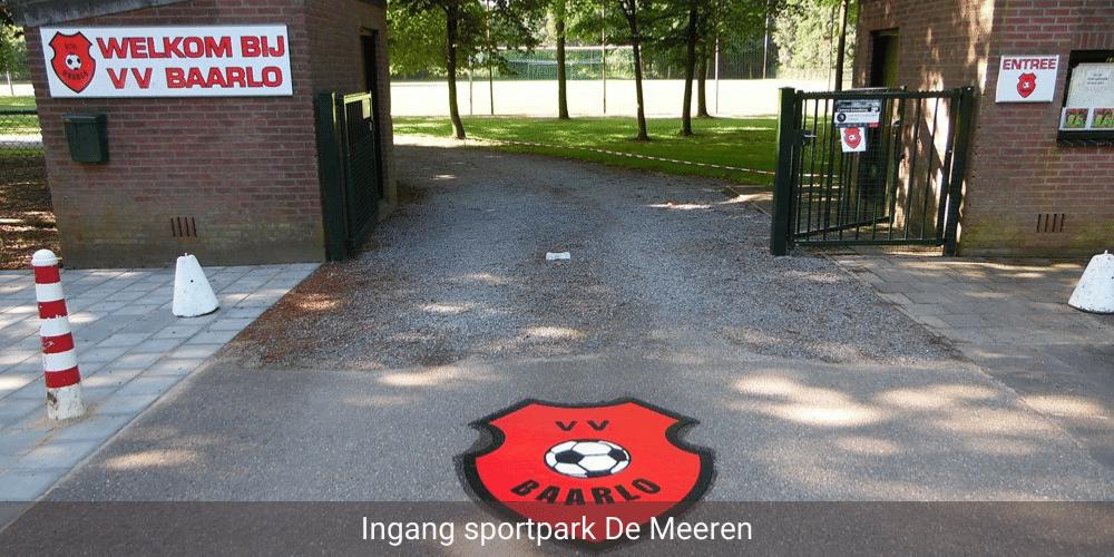 Afbeelding ingang sportpark De Meeren