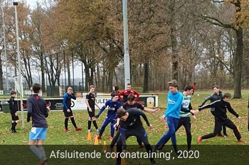 Afsluitende 'coronatraining' jeugd VV Baarlo, 2020