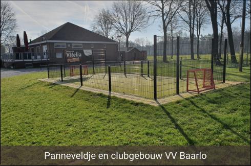 Panneveldje en clubgebouw VV Baarlo