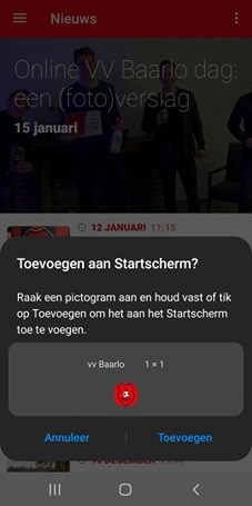 Screenshot VV baarlo app, screenshot 04