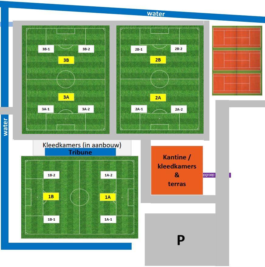 Trainingsvelden FC Oegstgeest