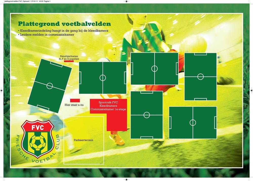 Plattegrond voetbalvelden Wiarda