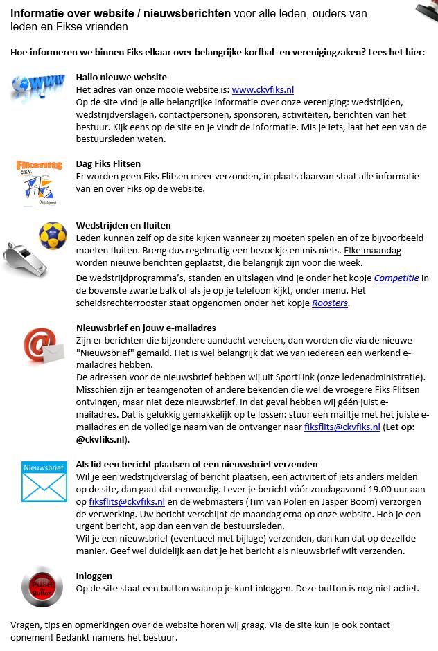 Informatie over website