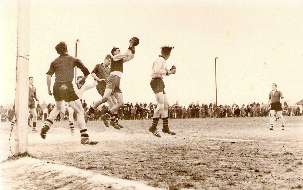 Actie foto uit de jaren 50
