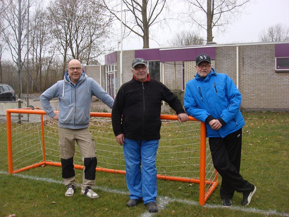 Terreinbeheerders  v.l.n.r. Heiko Udema, Jan Kiewiet en Gerard Stiekema