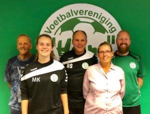 Van links naar rechts op de foto staan: Jan Roeke, Manon Kruiper, Robert Spenkelink, Marianne Wijkstra en Jethro Spijkstra.