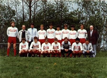 1983/1984 v.v.Heukelum - Elftalfoto van omstreeks midden 80-er jaren.