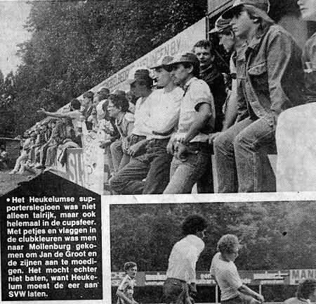 1983 v.v.Heukelum - In 1983 verloor V.V.Heukelum de finale van de Nieuwsbladcup met 3-1 van S.V.W.