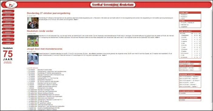Oude layout website v.v.Heukelum