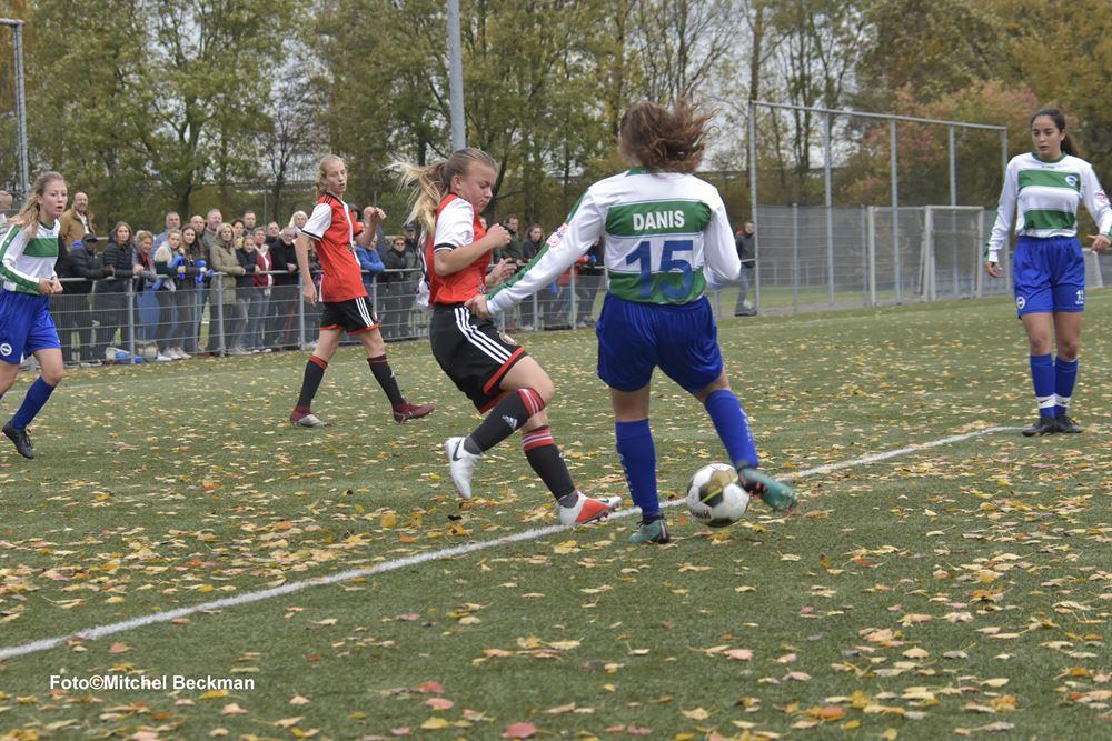 SV Kadoelen MO17-1 tegen Feyenoord MO17-1 seizoen 2018-2019 vierde divisie