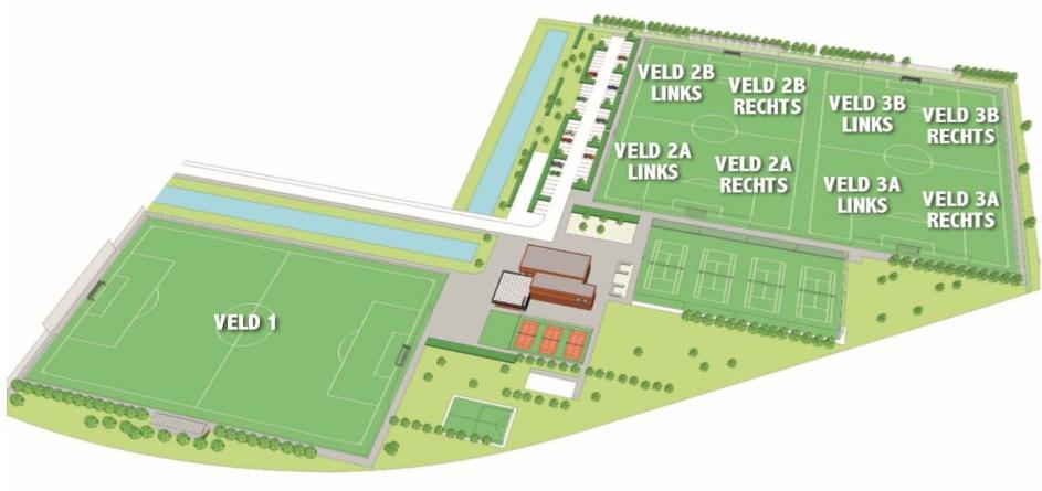 Plattegrond sportcomplex SV Leidschenveen