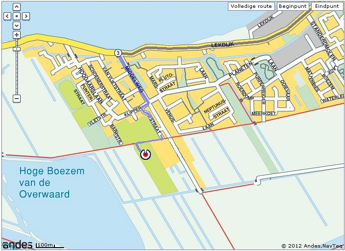 Route naar Sportpark Excelsior