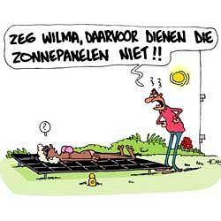 Daarvoor dienen de zonnepanelen niet!