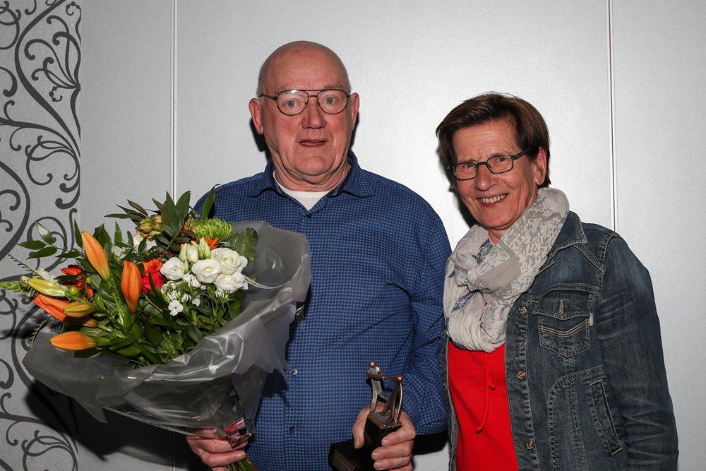 April - Vrijwilligersavond 2019 - Cor van Schadewijk en zijn vrouw Jeanne van Schadewijk