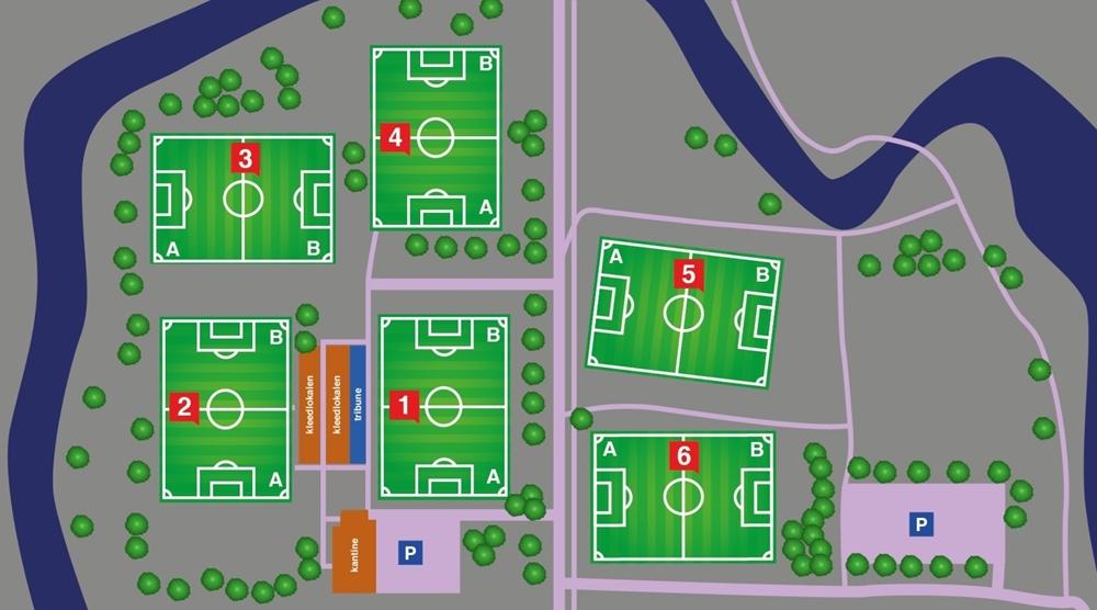 Plattegrond Sportpark De Neul