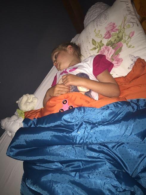 Eline slaapt