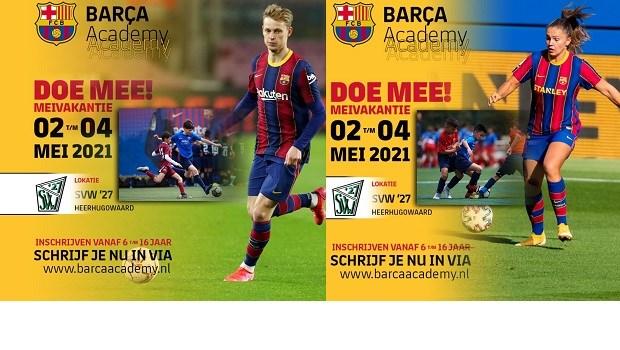 Inschrijven Barcelona Voetbalkamp bij SVW'27 t/m 18 april a.s.