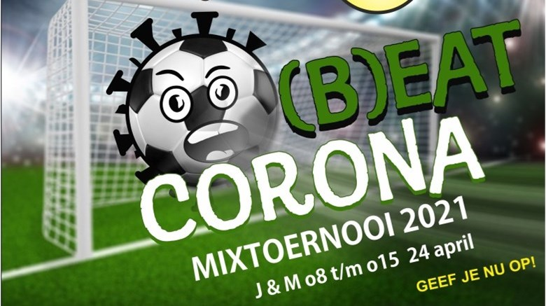 Zaterdag 24 april a.s. een mix-voetbaltoernooi voor O8 t/m O15.
