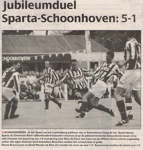Jubilieum wedstrijd SChoonhoven - Sparta