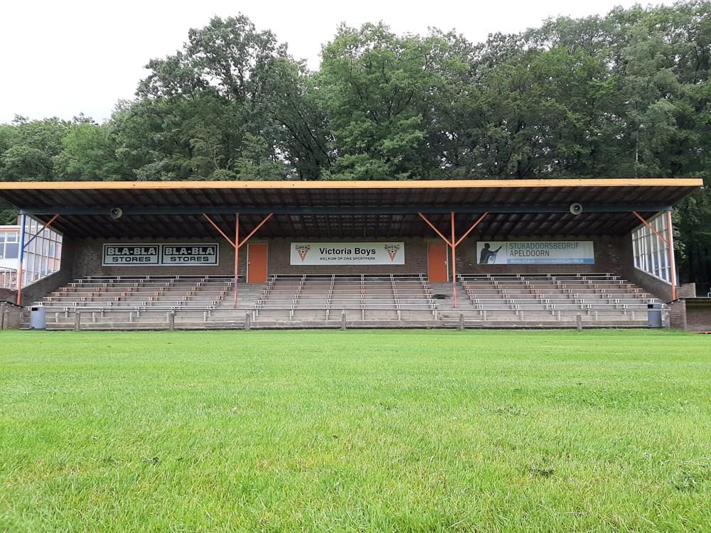 Het huidige Victor stadion va Victoria Boys in Apeldoorn